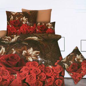 Pościel 3D - Czerwone Róże - 220x200 cm - 4 cz - MI6214