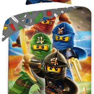Pościel bawełniana - Lego Ninjago - 140x200 cm - 2 cz - LEG-374