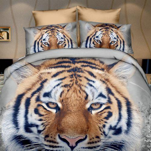 Pościel 3D - Głowa Tygrysa  - 160x200 cm - 3 cz - 270-07