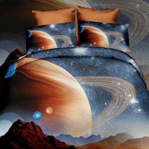 Pościel 3D - Marsjański Widok - 160x200 cm - 3 cz - 254-06