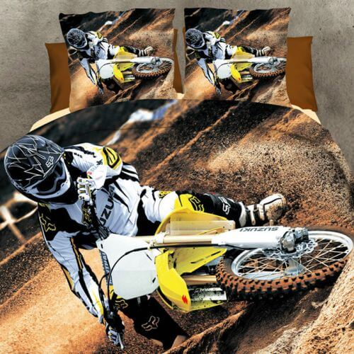Pościel 3D - Motor Cross - 160x200 cm - 3 cz - 284-01