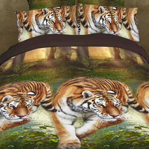 Pościel 3D - Przyczajone Tygrysy - 220x200 cm - 4 cz - 901-05