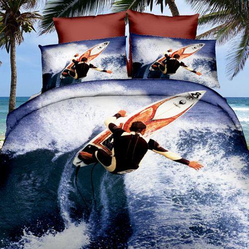 Pościel 3D - Surfer - 160x200 cm - 3 cz - 249-01