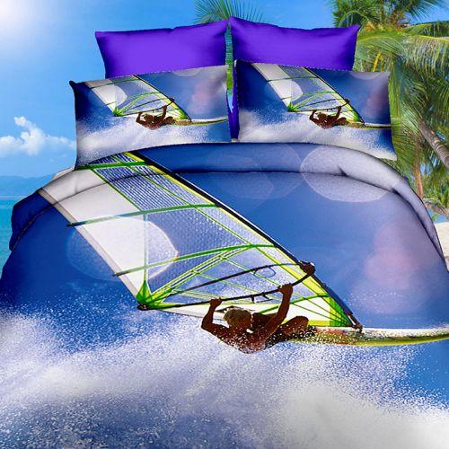 Pościel 3D - Windsurfing - 160x200 cm - 3 cz - 249-03