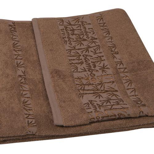 Ręcznik bambusowy - Lora - Brązowy - 70 x 140 cm