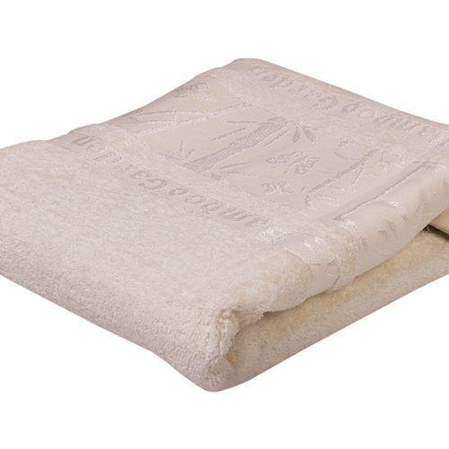 Ręcznik bambusowy - Garden - Biały - 70 x 140 cm