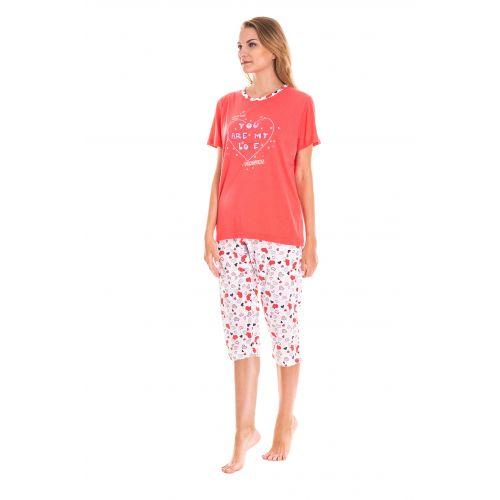 Piżama Damska Valerie Dream - Koralowa (LK4158)