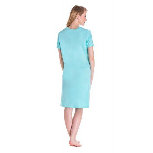Koszula Nocna Benter - Błękitna (65610)