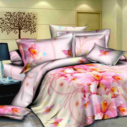 Pościel 3D Pluszowa - Słodki Róż - 220x200 cm - 3 cz