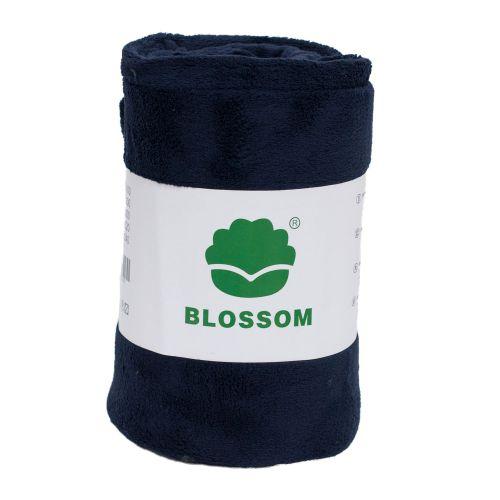 Koc z mikrofibry Blossom 70x100 - ciemny szafir - BLD-48