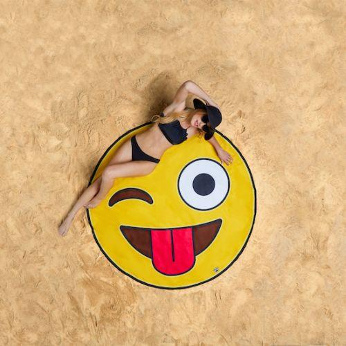 Koc plażowy - emotikon