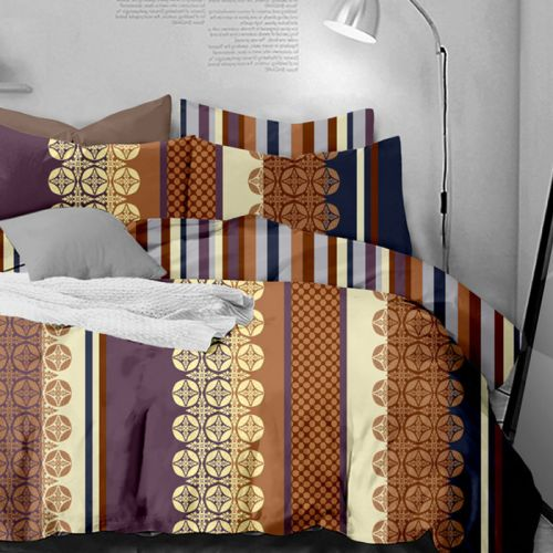 Pościel dwustronna - Beżowa Elegancja - 160x200 cm - 3cz - 421-02