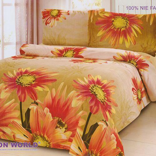 Pościel 3D - Wieczorne Kwiaty - 220x200 cm - 3 cz - 317-08