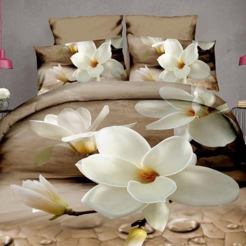 Pościel 3D - Kwitnąca Magnolia - 160x200 cm - 3 cz - 924-04
