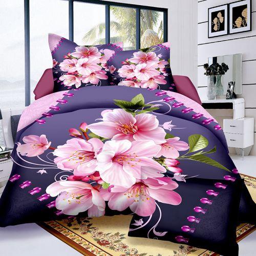 Pościel 3D - piękne Kwiaty - 160x200 cm - 4 cz - 4204-09
