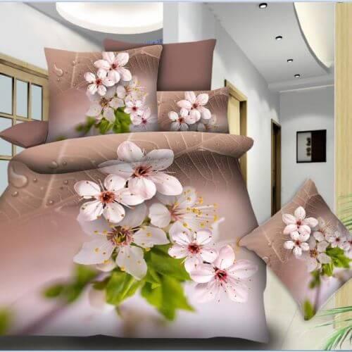 Pościel 3D - Kwiat Jabłoni - 140x200 cm - 2 cz BE-D- 77-08