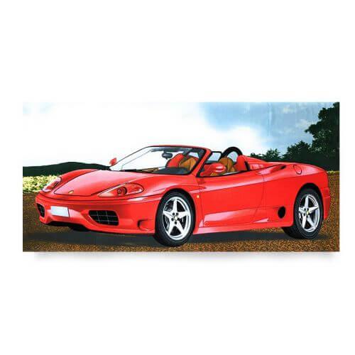 Ręcznik plażowy 70x145 cm - Czerwone Ferrari RPL-02