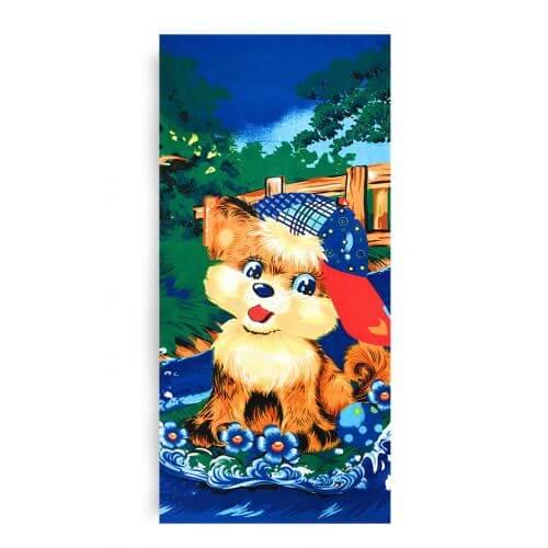 Ręcznik plażowy 70x145 cm - Piesek w Czapce RPL-13