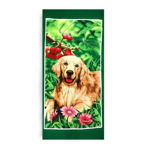 Ręcznik plażowy 70x145 cm - Golden Retriever RPL-15