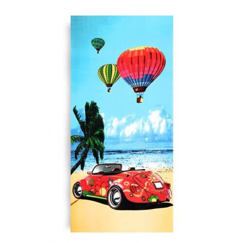 Ręcznik plażowy 70x145 cm - Garbusowe Wakacje RPL-19