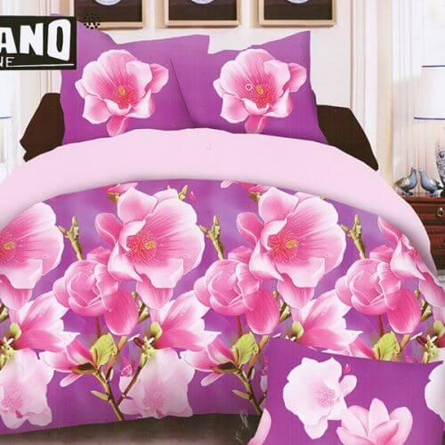 Pościel 3D - Kwiaty Sakury - 160x200 cm - 4 cz - MI6187