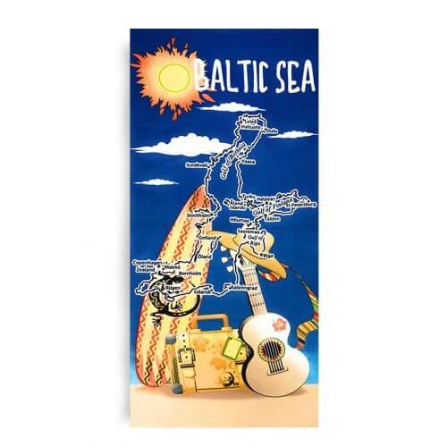 Ręcznik plażowy 70x145 cm - Baltic Sea RPL-23