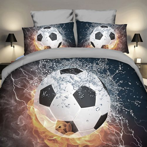 Pościel 3D - Piłkarski Ogień - 140x200 cm - 2 cz - 4211-308