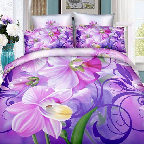 Pościel 3D - Magiczny Kwiat - 140x200 cm - 2 cz - 4211-91