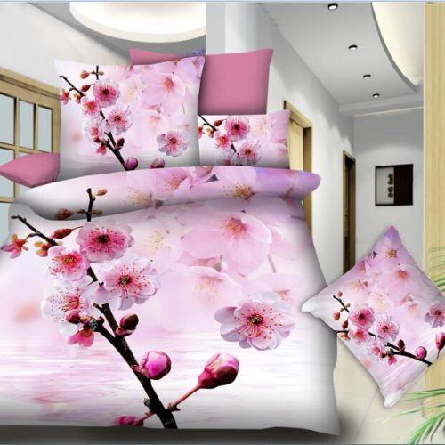 Pościel 3D -  Kwiat Sakury  - 160x200 cm - 3 cz -  788-12