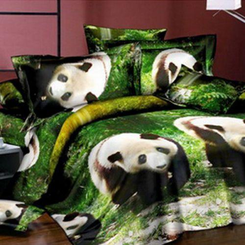 Pościel 3D - Idąca Panda - 220x200 cm - 4 cz - 2003-09