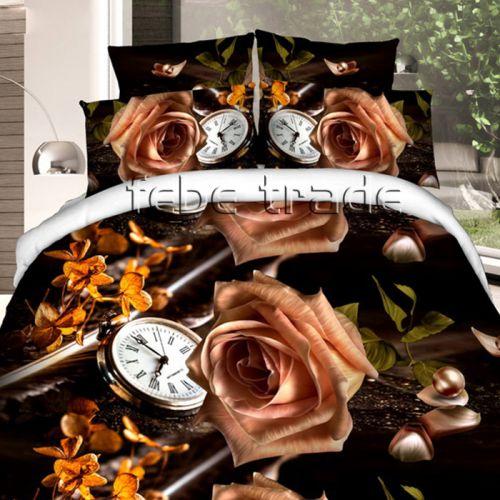 Pościel 3D -  Różany Czas - 220x200 cm - 3 cz - 1715-10