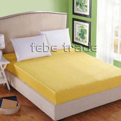 Prześcieradło bawełniane z gumką 180x200 Żółty - RG-180-22