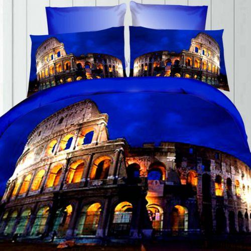 Pościel 3D - Rzymski Koloseum - 220x200 cm - 3 cz - 236-02