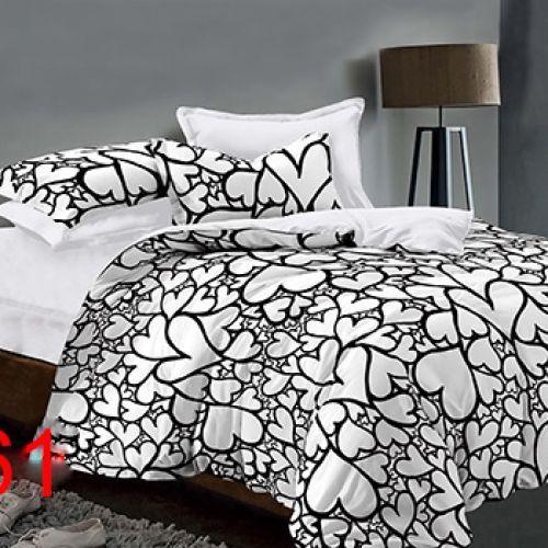 Pościel 3D - Białe Serca - 160x200 cm - 4 cz - 4219-361