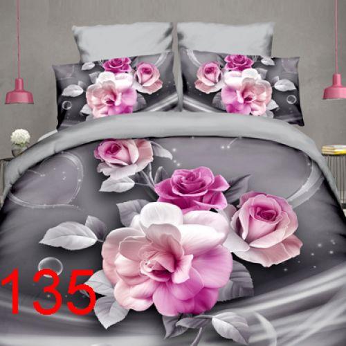 Pościel 3D - Kwitnące Róże - 160x200 cm - 4 cz - 812-135